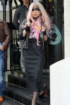 Lady Gaga wears a My Little Pony necklace