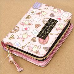 Kawaii pink wallet with cards and circus @modes4u