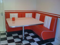 American diner retro booths corner kitchen corner suite custom made bn