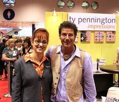 With Ty Pennington at Fall Quilt Market 2010 - Ty Pennington, host of ABC's Extreme Home Makeover was at Quilt Market with a new line of Home Dec Fabric.
