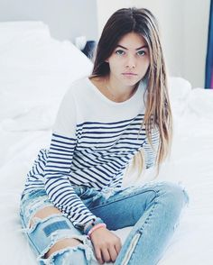 "Thylane Blondeau ""Sorry but i love those jeans so much @oneteaspoon_ #oneteaspoon"""