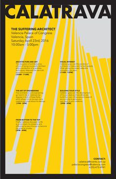 Alejandro Alvarez - architectural poster - Calatrava The Suffering Architect (1)