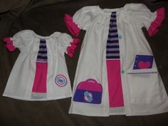 Summer Lab Coat Doc McStuffins  Dress  Size 2t,3t,4t,5t Ready to ship  Option for Embroidery Name and Matching American Girl Dress