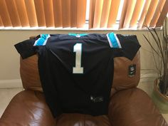 be5ced10134 Cam Newton Carolina Panthers NFL Jersey Medium Black and Blue. for Sale in  Miami