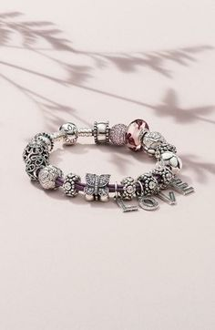 Great idea for Mother's Day! Personalize a Pandora bracelet.