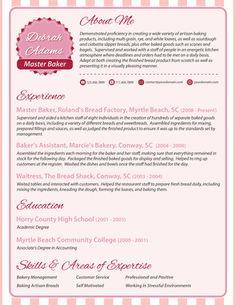 modern resume baker part 2 chief baker resume
