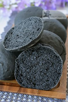 soft moist bamboo charcoal bread