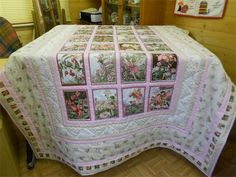 Michael Miller Flower Fairy Quilt in Pastels : My client wanted me to use the bolder coloured Michael Miller Flower Fairy fabric blocks, but also wanted the co-ordinating fabrics to be in soft pinks and creams.