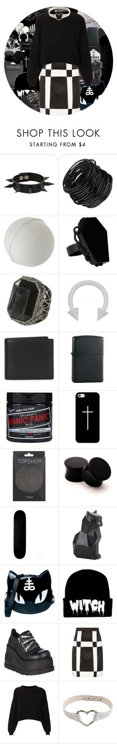 """""""black//white"""" by chemicalfallout249 ❤ liked on Polyvore featuring CASSETTE, Forever 21, Hot Topic, Wet Seal, Coach, Zippo, Casetify, Topshop, Killstar and Demonia"""