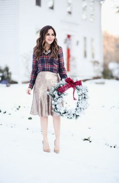 e260c722f4a christmas to new years  2 ways to wear a sequin skirt this season