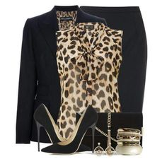 A fashion look from October 2014 featuring Ted Baker cardigans, Lipsy blouses and Diane Von Furstenberg skirts. Browse and shop related looks. Animal Print Outfits, Animal Print Fashion, Work Fashion, Fashion Outfits, Womens Fashion, Fashion Trends, College Fashion, Curvy Fashion, Fashion Bloggers
