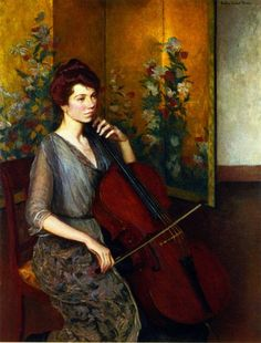The Cellist by Lilla Cabot Perry