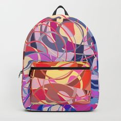 0381ad3ceb Summer Sunset Abstract - Purples and Reds Backpack by  Gravityx9 at   Society6