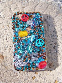 i phone 4 cover with Bling and Jewels by TheQueensDaughters, $25.00