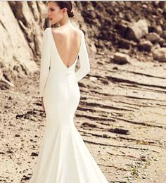 Another sneak into @mikaellabridal new collection. We are eagerly anticipating these arrivals. As our brides know we love sleeves on a wedding dress and have a wide selection! This clean and simple (yet super sexy) gown will not disappoint!! #weddingdress #longsleeveweddingdress