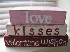 cricut vinyl valentine crafts | My Crafty Playground: Valentine's wood projects