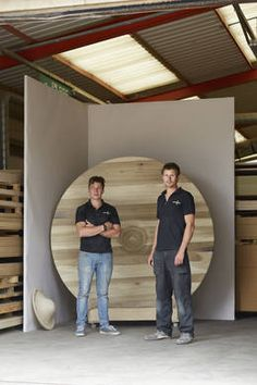 Rob Barnby and Lewis Day, of Barnby and Day, designed and made Table Turned for Alex de Rijke. The produced this piece during LDF 2014 as part of The Wish List using American tulipwood.