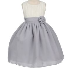 cute flower girl dress for the grey wedding lovers:)