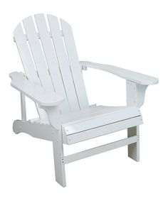 This White Adirondack Chair by Leigh Country is perfect! #zulilyfinds