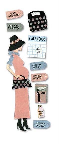 EK Success - Touch of Jolee's Dimensional Stickers  - Pregnancy at Scrapbook.com $2.07