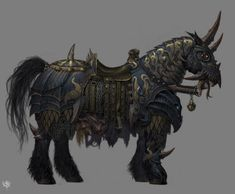 mounted knight concept art