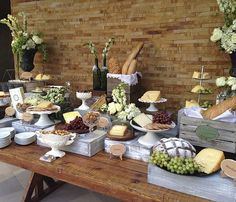 Renta de decoracion vintage. Mesa de quesos en monterrey