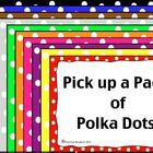 Polka Dot Borders and Frames- For Personal or Commercial Use Polka Dot Classroom, Classroom Themes, Classroom Organization, Classroom Management, Polka Dot Theme, Polka Dots, Teachers Corner, School Displays, Beginning Of The School Year