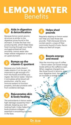Benefits of lemon water - Dr. Axe www.draxe.com #health #holistic #natural