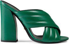 Metallic crossover sandal