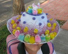 Ha ha, such a cute Easter bonnet