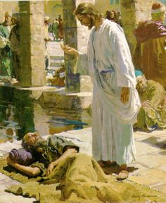 I love this beautiful story of how Jesus healed this man. Jesus was so compassionate. Religious Pictures, Bible Pictures, Jesus Pictures, Religious Art, Bible Images, Jesus Our Savior, Jesus Lives, Jesus Is Lord, Lds Art