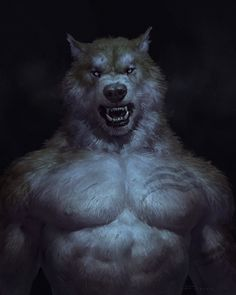 Furry Wolf, Furry Art, Fantasy Creatures, Mythical Creatures, Dark Fantasy, Fantasy Art, Wolf Hybrid, Wolf Life, Monsters