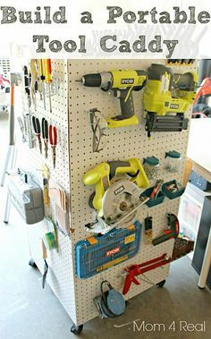 Make a portable storage caddy to hold your tools, paint supplies, and anything else!