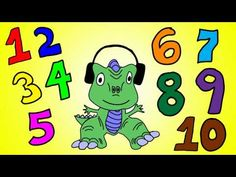 Dinosaur Numbers 1 to 10 - Learn Numbers 1 to 10 with the Dinosaur Song Dinosaur Songs, Dinosaur Videos, Dinosaur Theme Preschool, Dinosaur Activities, Preschool Activities, Math Songs, Preschool Songs, Preschool Education, Preschool Themes