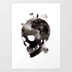 the darkest side Art Print by Steven Toang - $18.00