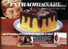 Jell-o Pudding Stripe-It-Rich cakes (1982) - Click Americana