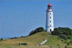 Poster Leuchtturm Hiddensee