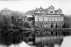 Kajetánka (1930) Text Pictures, Old Pictures, Czech Republic, Historical Photos, Most Beautiful Pictures, Black And White, Mansions, Landscape, City