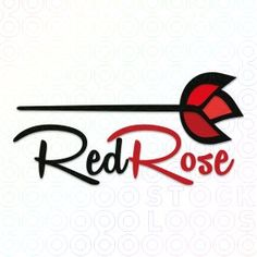 Red Rose logo A logo with a variety of applications:Art and design food and drink,retail, beauty,salon or spa, boutique, florist, jewelers and many more. Upon purchase the following revisions are FREE ~ name change ~ tagline addition ~ font changes ~ layout changes....$299