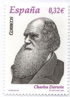 Darwin stamp, Spain