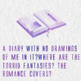 """The Mortal Instruments: City of Bones Quote """"A diary with no drawings of me in it? Where are the torrid fantasies? The romance covers?"""" Jace to Clary"""