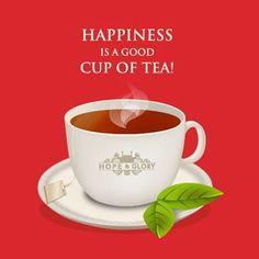 Happiness is a good cup of tea! www.thehopeandglory.co.uk #hopeandglory #tealovers #happiness #teachampions #cupoftea #tealove #teabreak #teaholics #teatime #joyous #hotdrink #beverage #warming #soothing #cooling #breakfast #earlgrey #redvelvet #jasminetea #greentea #rooibos #blackteas #loveteas #mycupoftea #welovetea #lifestyle #instadaily