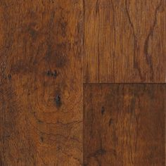 "Picture of Mannington Mayan Pecan Copaiba - Cumin 5"", call for pricing, dark brown hardwood, wide plank, 25 year warranty"