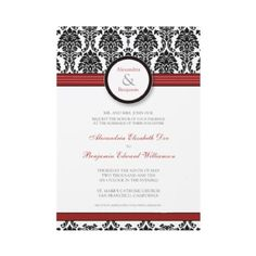 Black, Red, White invites