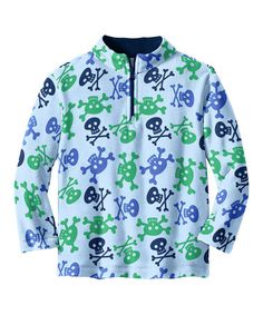 Take a look at this Blue Crossbones Microfleece Pullover - Toddler & Boys by Hanna Andersson on #zulily today!