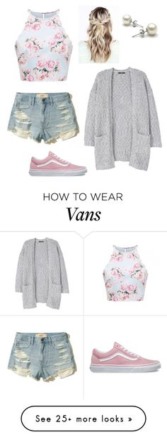 """""""School in 2 weeks"""" by freebirdy on Polyvore featuring MANGO, Hollister Co. and Vans"""