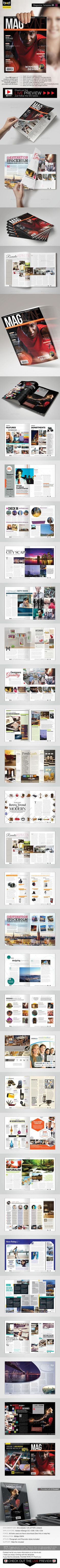 Magazine Template - InDesign 52 Page Layout V4 by BoxedCreative This is a professional magazine/newsletter InDesign template that can be used for any type of industry. The clean, crisp, clear an