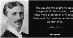 """Discover Nikola Tesla famous and rare quotes. Share inspirational quotes by Nikola Tesla and quotations about energy and earth. """"Alpha waves in the human brain are between. Nikola Tesla Quotes, Michael Faraday, Nicolas Tesla, Ignorant People, Science, Physicist, Albert Einstein, The Life, Picture Quotes"""