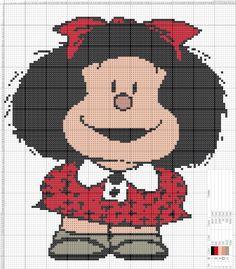 Dibujos Punto de Cruz Gratis: Mafalda Punto de cruz
