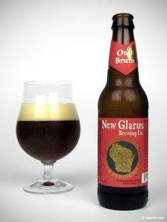 Cerveja New Glarus Oud Bruin, estilo Flanders Brown Ale/Oud Bruin, produzida por New Glarus Brewing Company, Estados Unidos. 5.6% ABV de álcool.